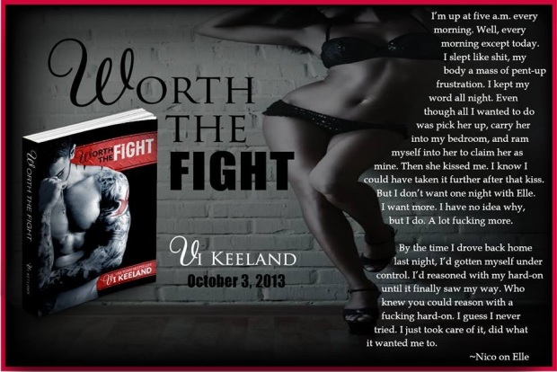 Worth the Fight excerpt pic - Nico on Elle